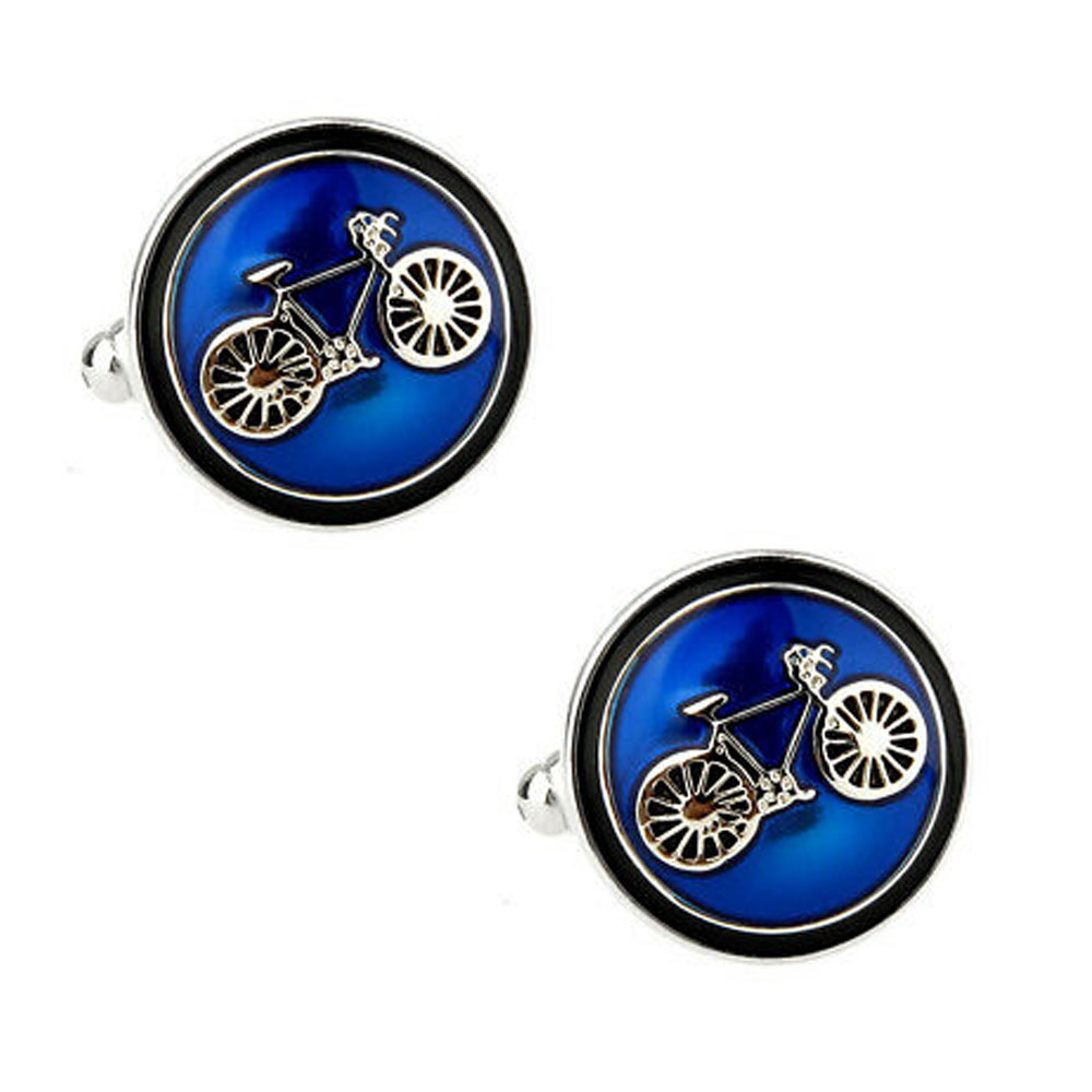 Round Bike Cufflinks The Cufflink Club