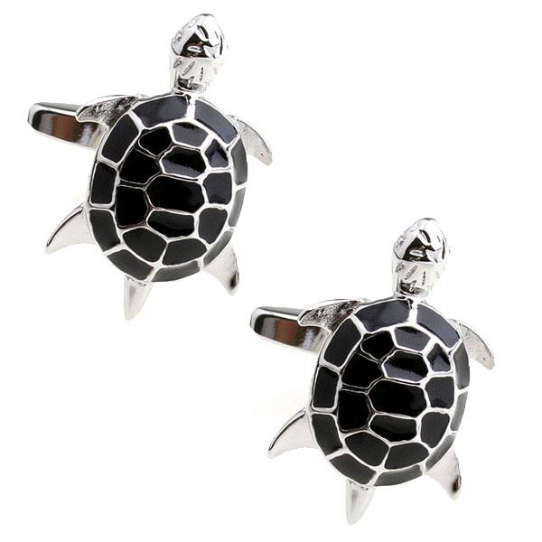 Black Turtle Cufflinks The Cufflink Club